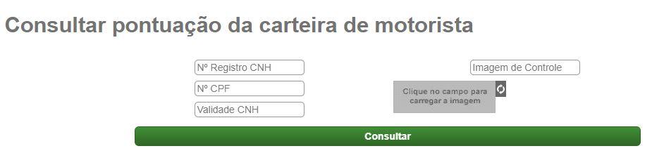 Consulta CNH PR pelo site